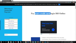 How to Pay sears credit card login Bill Online