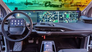 Inside Byton's electric car with a 48-inch screen