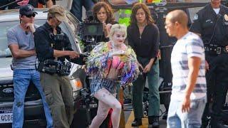 New set video 'Birds of Prey' Harley Quinn filming Stunt Scene!