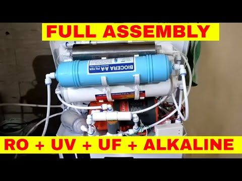 RO, UV, UF, TDS ASSEMBLY VIDEO FULL WIRING AND PIPING DIY