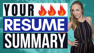 PROFESSIONAL SUMMARY RESUME | How to Write a Resume Summary