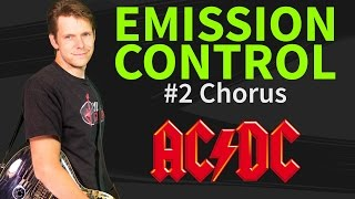 How to play Emission Control Guitar Lesson #2 Chorus - AC/DC