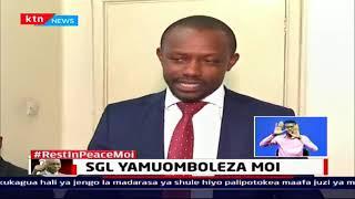 Afisa Mkuu wa Standard Group aongoza wafanyikazi kufariji familia ya Mzee Moi | Buriani  Mzee Moi