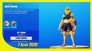 BOUTIQUE FORTNITE Du 7 Aout 2020 ! ITEM SHOP August 7 2020 !