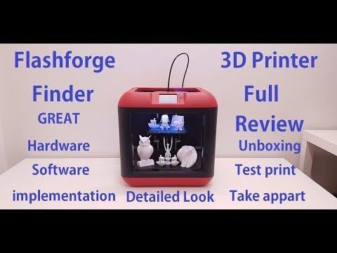 Flashforge Finder 3D Printer FULL REVIEW