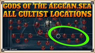 Assassin's Creed Odyssey All GODS OF THE AEGEAN SEA Cultist Locations - Cult Unmasked Trophy