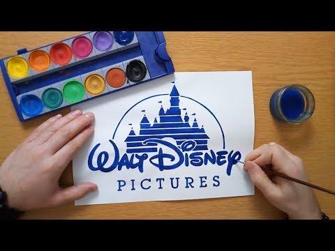 How to draw the Walt Disney logo (Walt Disney Pictures) - Disney Castle