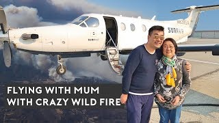 Flying with MUM on Surf Air through Crazy Cali WILD FIRE
