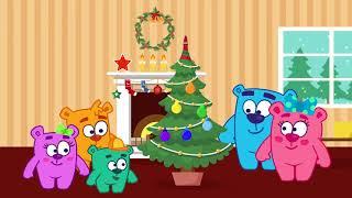 Цветные игрушки | Наряжаем Елку - УЧИМ ЦВЕТА | Мишки-Гришки