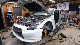 Quarter Panel Clean Up and BOV Testing on my Totalled GT-R, Sounds Amazing!