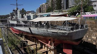 Queensland Maritime Museum - HMAS Diamantina (FPV-Drone fly-through)
