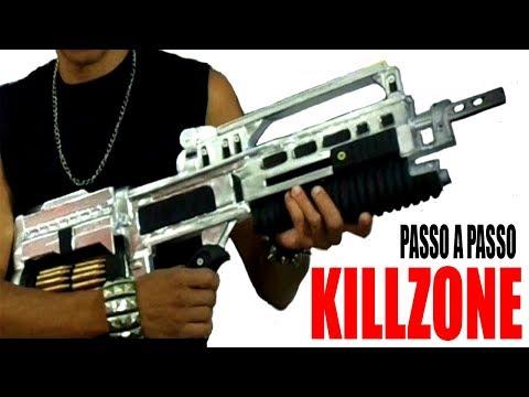 COMO FAZER RIFLE do KILLZONE STA52 Realista / Video Completo !!! Fluxo das Invenções