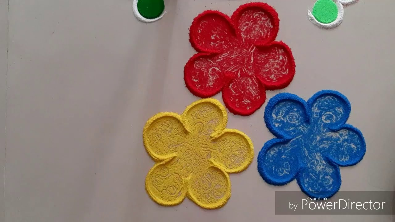 easy ganesha rangoli design for festivals by aarti shirsat