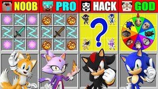 Minecraft NOOB vs PRO vs HACKER vs GOD Sonic the Hedgehog CRAFTING SCARY BATTLE CHALLENGE Animation