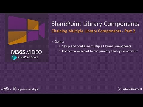 SharePoint Library Components – Chaining Multiple Library Components – Part 2