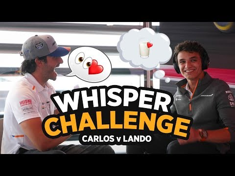 'The Whisper Challenge' ft Carlos Sainz and Lando Norris
