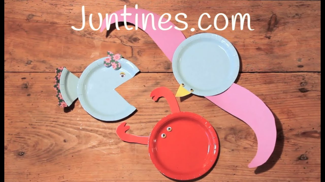 Manualidades de animales para niños con platos de papel