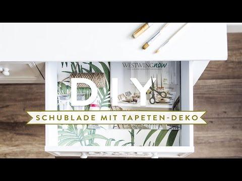 Schublade mit Tapeten Deko   WESTWING DIY-Tipps