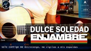 """Cómo tocar """"Dulce Soledad"""" de Enjambre en Guitarra (HD) Tutorial - Christianvib"""