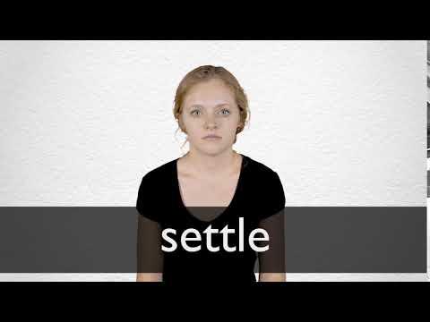 Synonym settling down Settle down