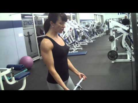 Straight Bar Cable Bicep Curls HD