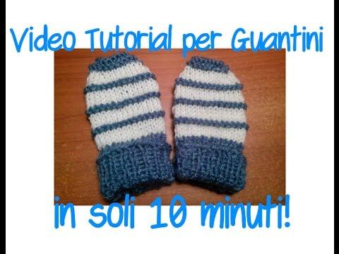 Tutorial: come si fanno i guantini per neonato coi ferri (in 10 minuti!)