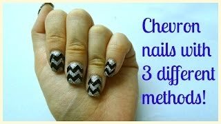 How I Do Chevron Zigzag Nails With 3 Different Ways! Explained Step By Step