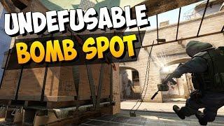 CS:GO - Almost Undefusable Bomb Plant Spot on Mirage! BANGER!