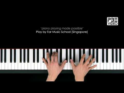 Piano improvisation with pentatonic scale