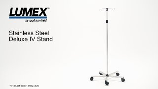 Lumex® Stainless Steel Deluxe IV Stand Youtube Video Link