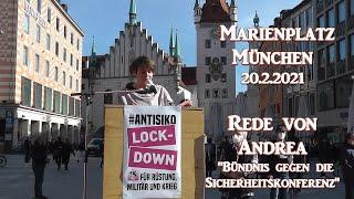 #Antisiko 20.2.2021 Rede von Andrea am Marienplatz in München