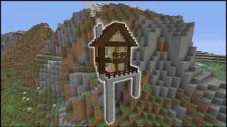 Hill House Minecraft How To Make A Cliff House Tutorial Mountain House Ps3 Ps4 Xbox Mcpe Minecraftvideos Tv