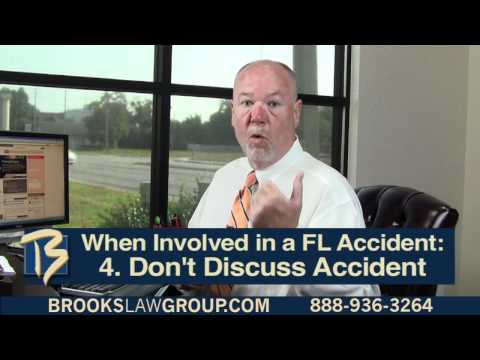 8 Things to Do in a FL Accident Part 1 - Florida Personal Injury Attorney Steve Brooks Discusses