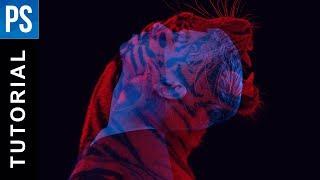 Animal Double Color Exposure Effect - Photoshop Tutorial
