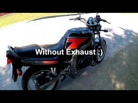 Suzuki Gs 500 E Raptor Exhaust sound, Sjcam Sj5000X Elite test