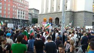Sofia, Bulgarian Anti-Government protest day 101