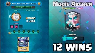 12 WINS MAGIC ARCHER CHALLENGE :: Clash Royale :: LEGENDARY KINGS CHEST OPENING! | Kholo.pk