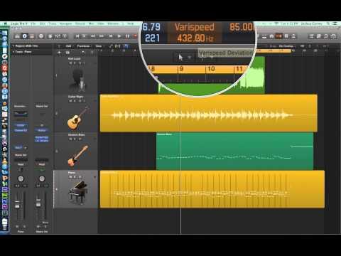 Logic Pro X – Video Tutorial 22 – Varispeed