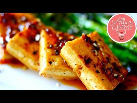 Chilli Garlic Tofu Recipe | Хрустящий тофу с соусом чили