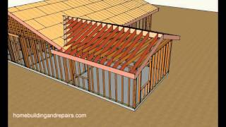 How To Attach Home Addition Roof Framing To Existing Sloping Roof