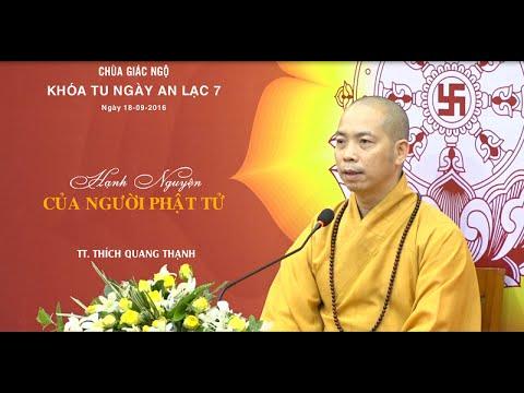Khóa tu Ngày An Lạc lần 7: Hạnh nguyện của người Phật tử -