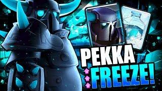 NEW PEKKA FREEZE DECK DESTROYS LADDER!! FREEZE BUFF OP!!