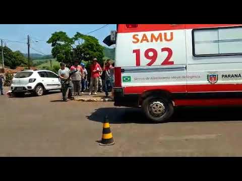 Motociclista fica ferido em acidente em Barbosa Ferraz