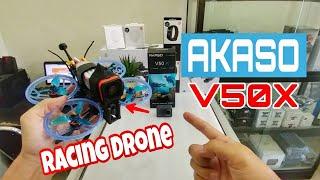 Akaso V50X + Racing Drone
