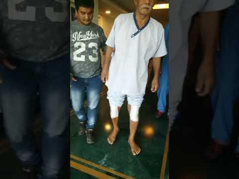 Elderly Patient walking confidently after surgery - Dr. Gaurav Gupta