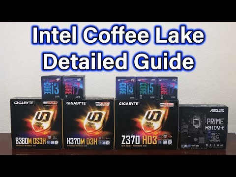 Coffee Lake Overview – i3 / i5 / i7 – H310 / B360 / H370 / Z370
