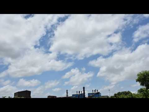 Time-lapse video of clouds