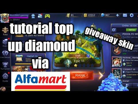 Tutorial beli diamond mobile legend via alfamart + giveaway skin