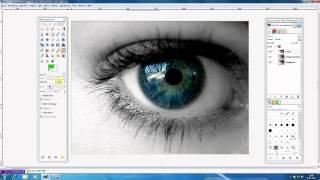 preview picture of video 'Gimp 2.6 Tutorial Deutsch aus S/W wird Farbe'