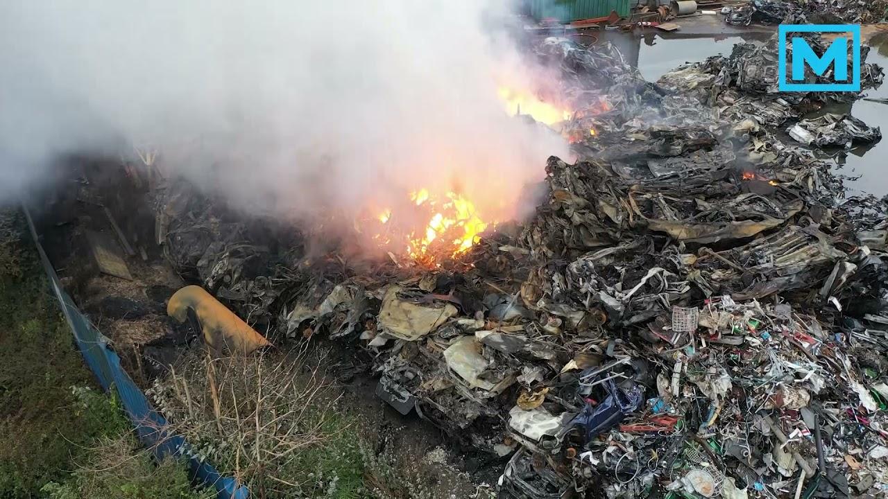Grote brand bij recyclingbedrijf AVI Den Bosch